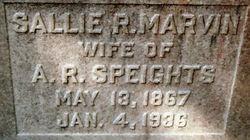 Sallie R. <i>Marvin</i> Speights