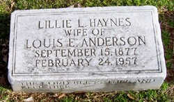 Lillie L. <i>Haynes</i> Anderson