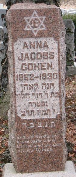 Anna <i>Jacobs</i> Cohen