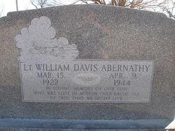 Lieut William Davis Abernathy