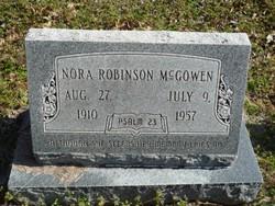 Nora <i>Robinson</i> McGowen