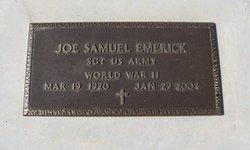 Sgt Joe Samuel Emerick