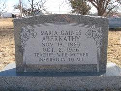 Maria <i>Gaines</i> Abernathy