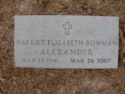 Harriet Elizabeth <i>Bowman</i> Alexander