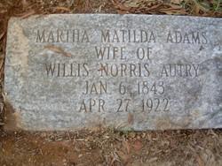 Martha Matilda <i>Adams</i> Autry