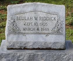 Beulah <i>White</i> Riddick