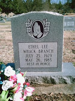 Ethel Lee <i>Whack</i> Branch