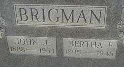 Bertha E <i>Purvis</i> Brigman