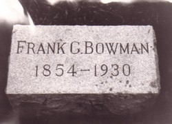 Frank G Bowman