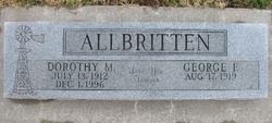 Dorothy M Allbritten