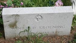 Winifred <i>Reed</i> Kroening