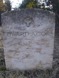 Pvt Edward Acors