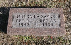 Huldah Ann <i>Miller</i> Sayre