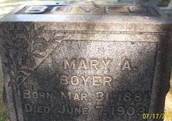 Mary A Mayme <i>Taylor</i> Boyer