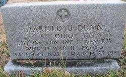 Sgt Harold U Dunn