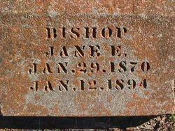 Jane Elizabeth <i>Ensey</i> Bishop