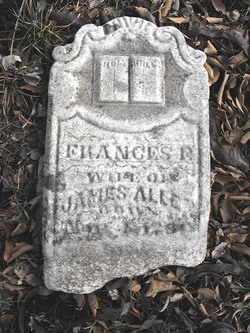Frances Flowers Fannie <i>Jones</i> Allen