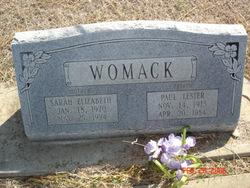 Sarah Elizabeth <i>Layton</i> Womack