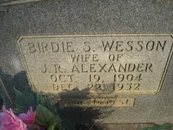 Birdie S. <i>Wesson</i> Alexander