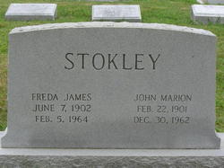 Freda Irene <i>James</i> Stokley