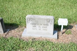 Frances W Davis