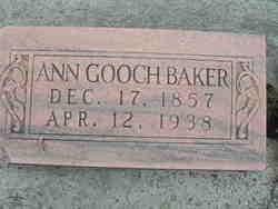 Anna <i>Gooch</i> Baker
