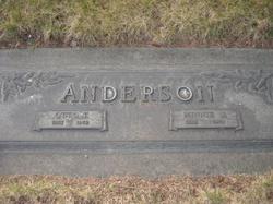 Anna Wilhelmina Minnie <i>Bengtson</i> Anderson