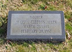 Mary A. <i>Clopton</i> Allen