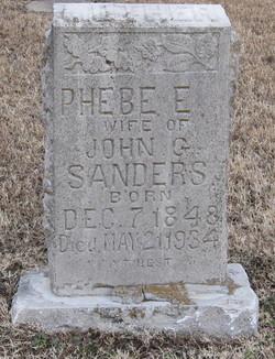 Phebe Elizabeth <i>Dolberry</i> Sanders