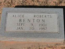 Alice <i>Roberts</i> Benton