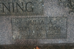 Julia A. <i>Hurt</i> Browning