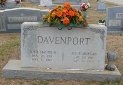 Alice <i>Morgan</i> Davenport