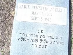 Sadie <i>Pemstein</i> Ackman