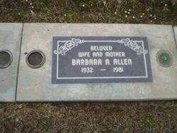 Barbara Ann <i>Bartlett</i> Allen