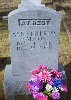 Ann Elizabeth <i>Herndon</i> Childress Salmon