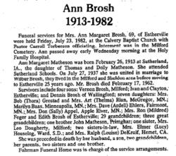 Ann Margaret <i>Matheson</i> Brosh