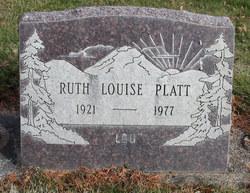 Ruth Louise Lou Platt