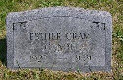 Esther <i>Oram</i> Conde