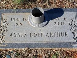 Agnes <i>Goff</i> Arthur