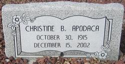 Christine B Apodaca