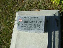 Katie Mae <i>Colyer</i> Rice