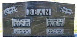 Harold N Bean