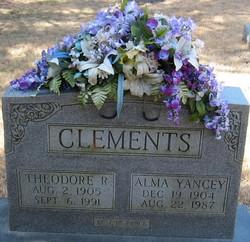 Alma Elizabeth <i>Yancey</i> Clements