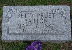 Betty <i>Pruet</i> Barton