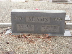 Mattie <i>Moore</i> Adams