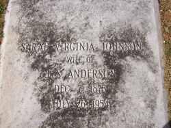 Sarah Virginia <i>Johnson</i> Anderson