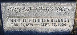 Charlotte Ella <i>Towler</i> Bennion