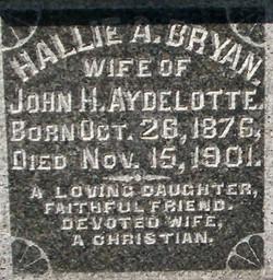 Hallie A. <i>Bryan</i> Aydelotte