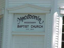 Macedonia Missionary Baptist Church Cemetery