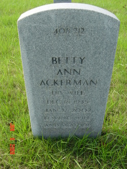 Betty Ann <i>Grantham</i> Ackerman